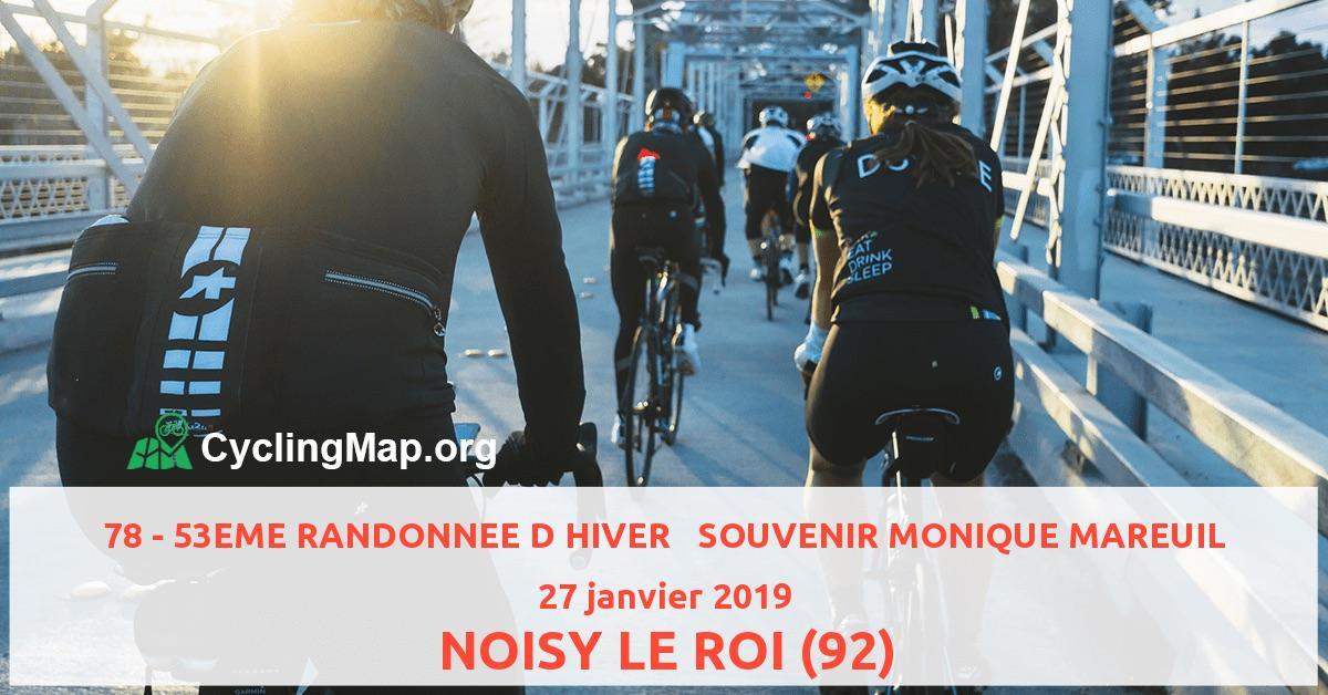 78 - 53EME RANDONNEE D HIVER   SOUVENIR MONIQUE MAREUIL