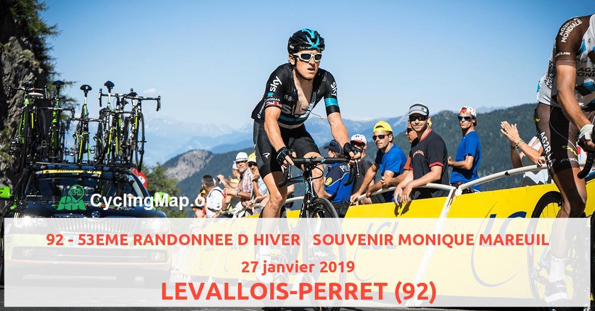 92 - 53EME RANDONNEE D HIVER   SOUVENIR MONIQUE MAREUIL