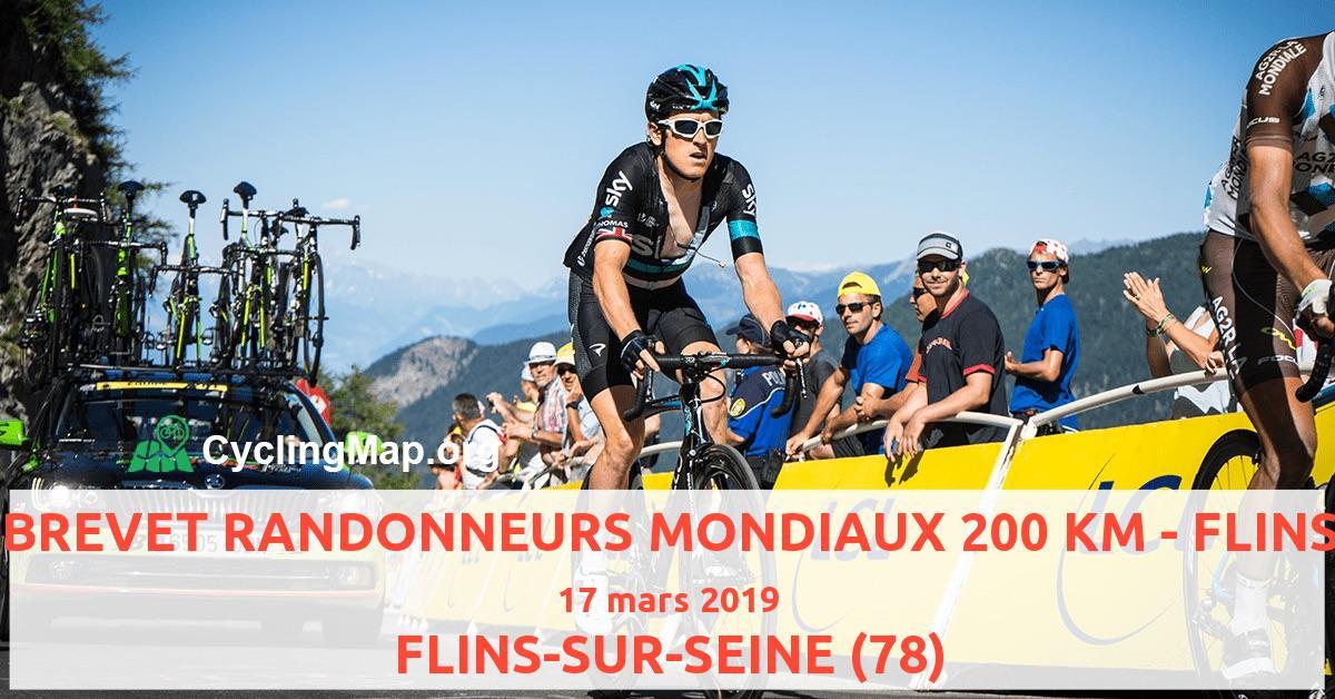 BREVET RANDONNEURS MONDIAUX 200 KM - FLINS