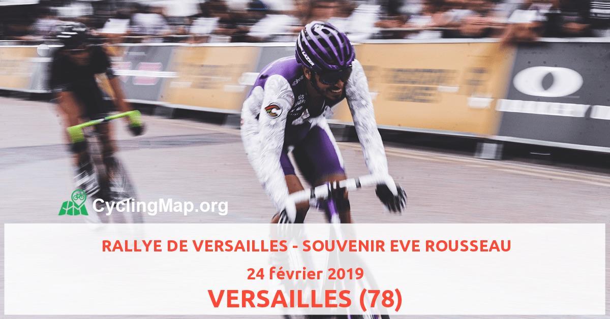 RALLYE DE VERSAILLES - SOUVENIR EVE ROUSSEAU